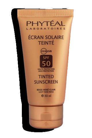 PHYTÉAL écran solaire teinté beige rosé clair SPF 50 UVA